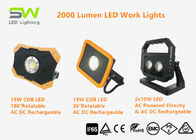 Portable COB LED Flood Lights 2000 Lm Waterproof Work Lights With Magnet Handle