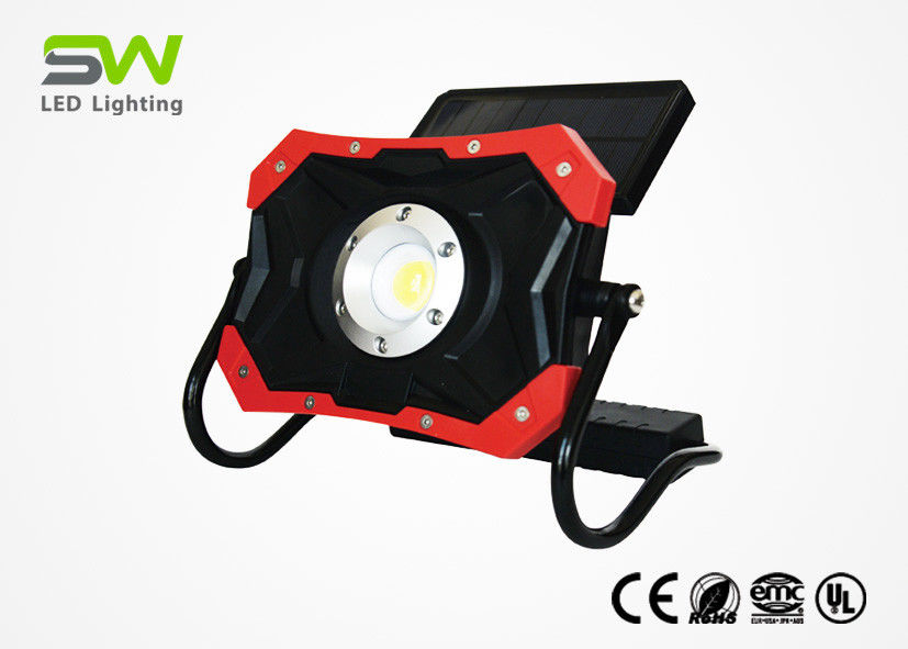 Outdoor LED Solar Work Light , Red DC Charging Solar Rechargeable Light