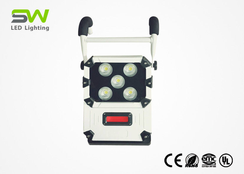 IP64 Portable Led Work Light , Rechargeable Flood Lamp AC Power Cord Available