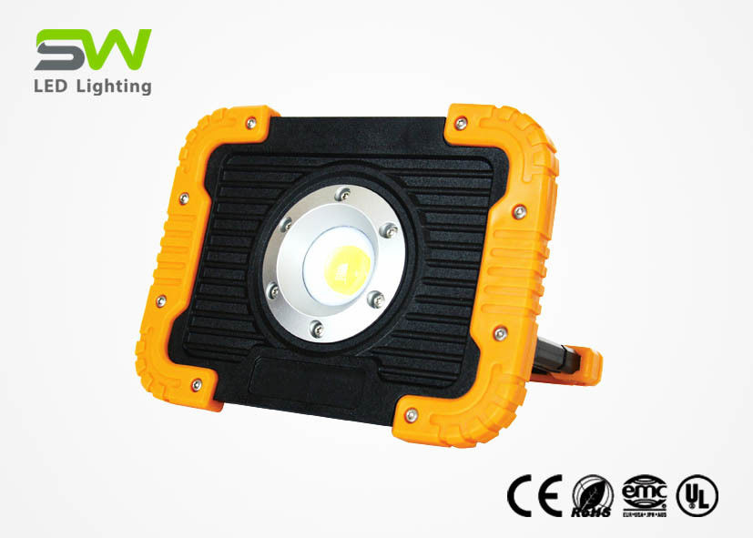 10 W Rechargeable Portable LED Flood Lights 1000 Lumen With USB Output