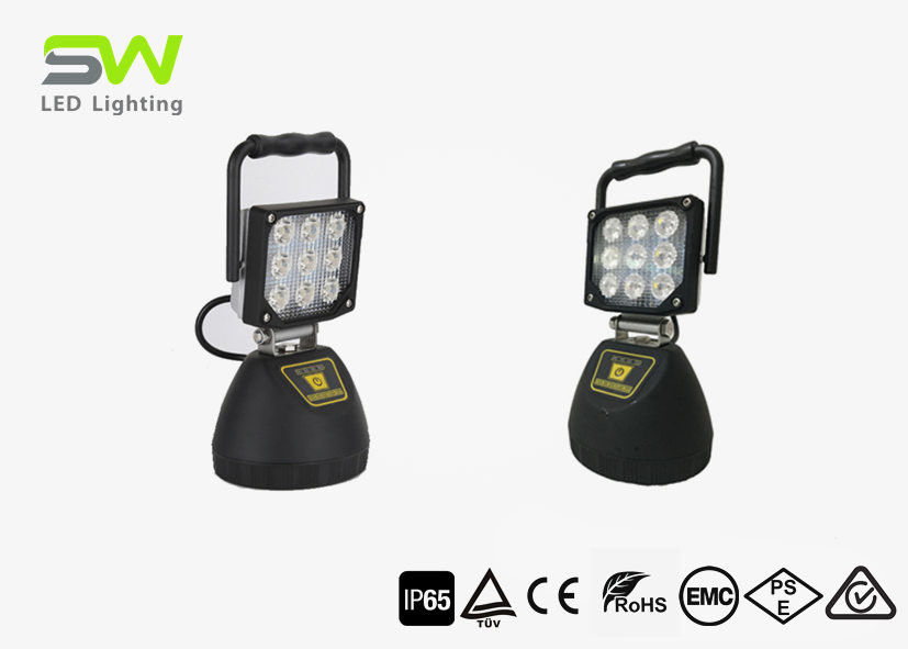 27W Magnetic Led Work Light Rechargeable Adjustable Handle Aluminum Alloy