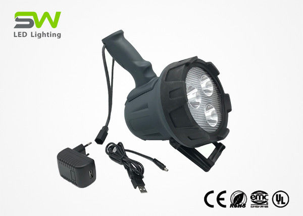 Brightest OEM Portable LED Rechargeable Spotlight Torch , Led Hunting Spotlight