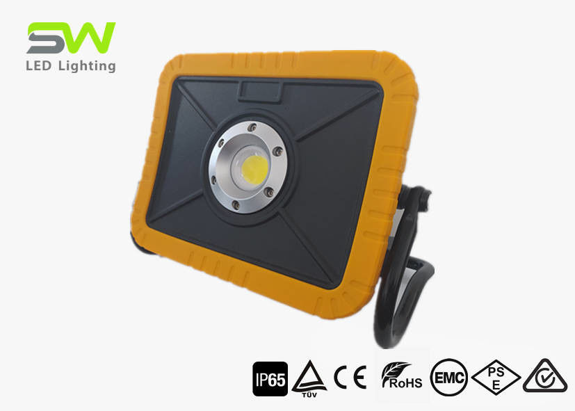 15W COB 2000 Lumen Led Rechargeable Site Light With Rotating Magnet Stand
