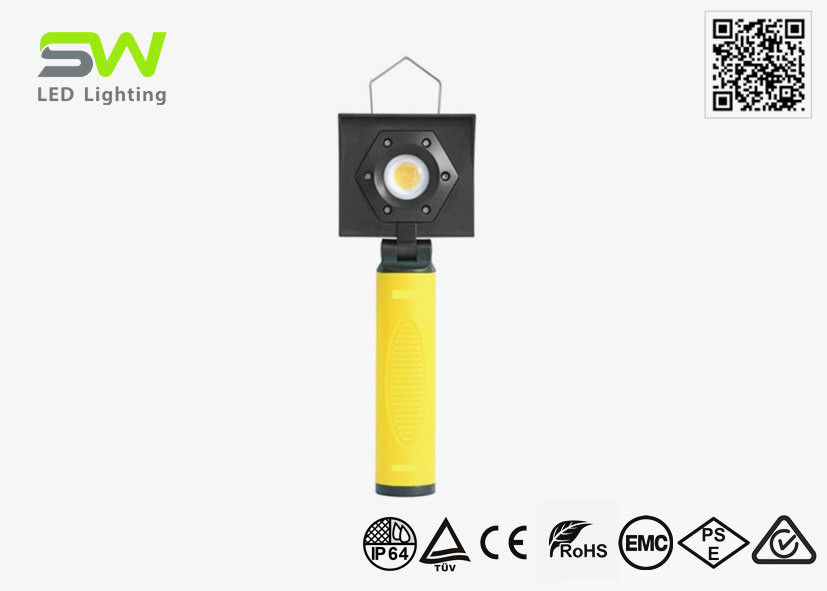5500-6500 K Handheld Magnetic LED Inspection Light With Wall Clamp Storage