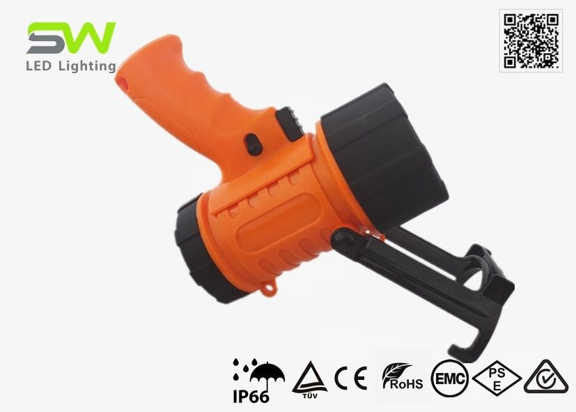 3w Cree 300 Lumen Rechargeable LED Spotlight With Red Filter / Hook