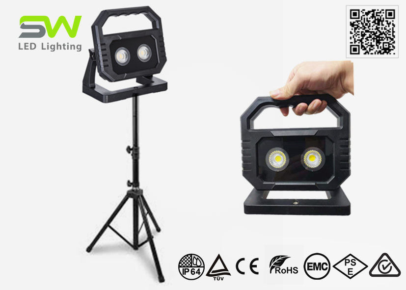 2700K Tripod 20Watt CRI 95+ COB LED Work Light