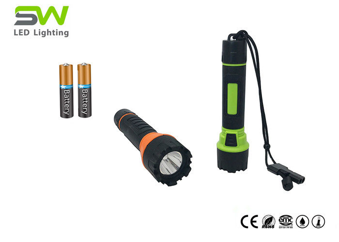 Waterproof IP66 High Power LED Torch Light With Whistle