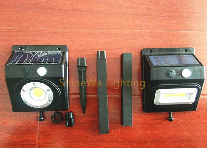 Waterproof Black Infrared Sensor Light / Solar Powered Sensor Lamp