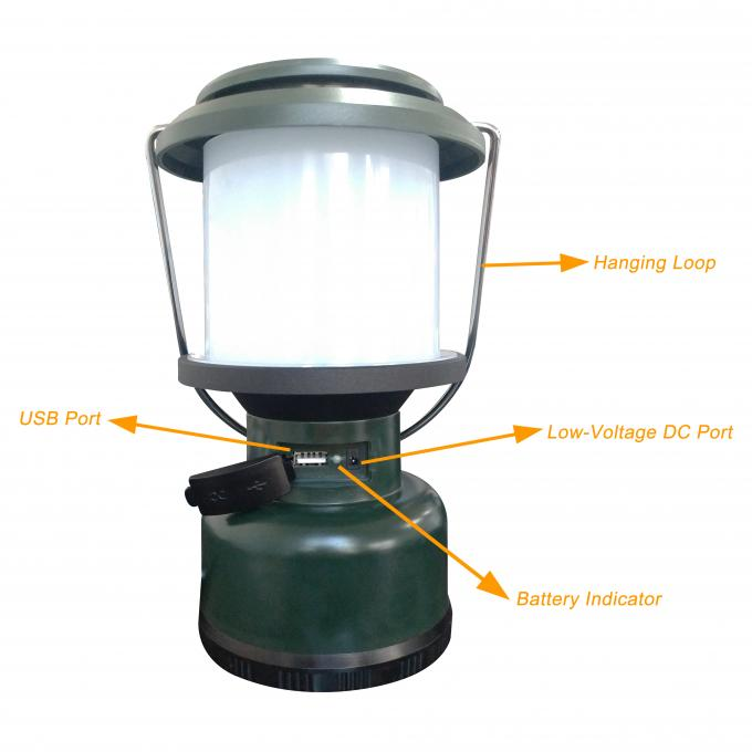 Rechargeable Dimmer Switch LED Camping Lantern With Hanging Loop