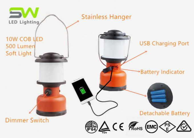 USB Recharge LED Camping Lantern Portable Outdoor Lamp 4 Hours Run Time 0