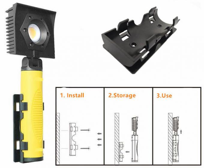 Small Rechargeable Led Work Light Magnetic Inspection Lamp With Wall Clamp Storage 1