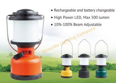Portable Rechargeable Camping Tent Lights / Battery Operated Outdoor Lanterns