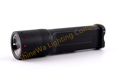 China Zoomable Tactical Rail Mount Flashlight , Rechargeable Tactical Flashlight factory
