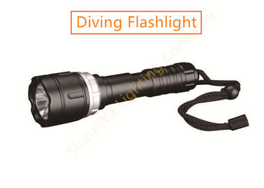 China 550LM Diving Focusing Led Flashlight Changeable Battery Use Under 80m Water factory