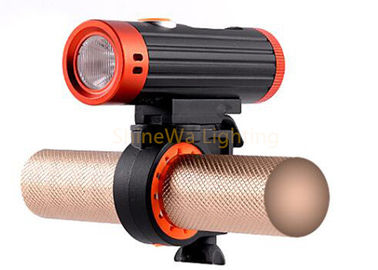 Waterproof IP64 Bicycle Front Light , Bike Lights With Removeable Mount