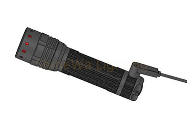 Focusing High Power Led Torch Light / Durable Brightest Rechargeable Flashlight