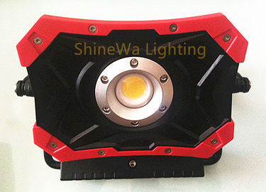 Waterproof Solar Led Work Light 1000 Lumen Red Long Run Time DC Charger