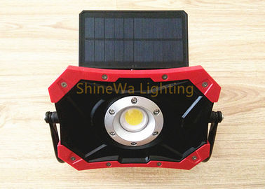 Outside Solar Powered Construction Lights 10W Rechargeable Led Work Light