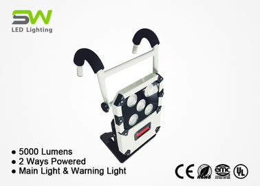 OEM Portable Rechargeable Led Flood Light AC & Li - Ion Battery Powered 5000 Lumens