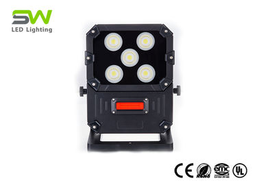 China 50 Watt 5000 Lumens Portable LED Site FLood Lights with 5W Red Warning Light factory