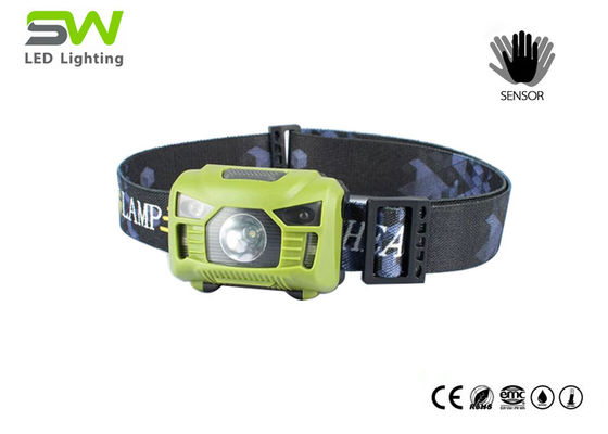 Hand Motion Sensor Rechargeable LED Headlamp with SOS function for help