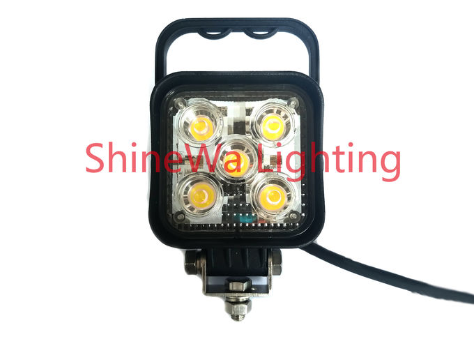 5*3W Portable Led Work Flood Lights Powered By 12-24V Vehicle Power Screw Install 0
